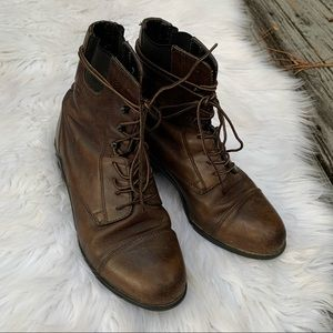 Ariat brown Leather Paddock Lace Up Boots Sz 7
